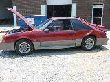 1990 Ford Mustang 5.0 HO T-5 - Red and Gray - Image 2