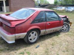 1991 Ford Mustang 5.0 HO Automatic - Red - Image 1