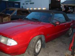 1991 Ford Mustang 5.0 HO Automatic AOD - Red - Image 1