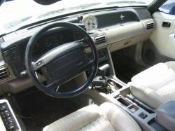 1991 Ford Mustang 5.0 with custom intake Automatic AOD - White - Image 3