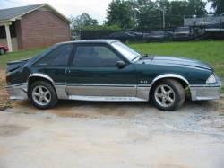 1991 Ford Mustang 5.0 HO AOD Automatic - Green & Silver - Image 2