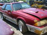 1992 Ford Mustang 5.0 T-5 5-Speed - Scarlet / Silver - Image 2