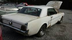 1966 Ford Mustang V6 Coupe Part Out