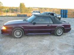 1987-1993 - Parts Cars - 1987 Ford Mustang Convertible 5 Automatic - Maroon