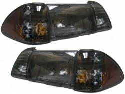 Lighting - Headlights - 1987-1993 Smoke 6pc Headlight *NEW*