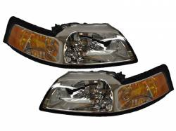 Lighting - Headlights - 1999-2004 Chrome Housing Headlights *NEW*