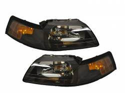 Lighting - Headlights - 1999-2004  Black Housing Headlights *NEW*