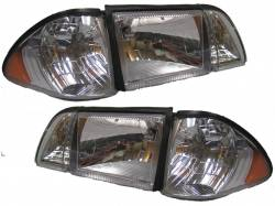 Lighting - Headlights - 1987-1993 Euro Headlight Set 6pc.