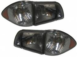 Lighting - Headlights - 1987-1993 Euro Smoked 6pc Headlight Set