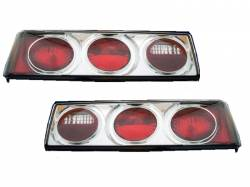 Lighting - Tail Lights - 1987-1993 Chrome Housing Tail Lights 2pc Set