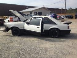 1987-1993 - Parts Cars - 1990 Ford Mustang White Hatchback