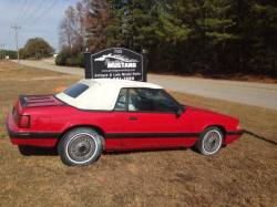 1987-1993 - Parts Cars - 1989 Ford Mustang Red Convertible