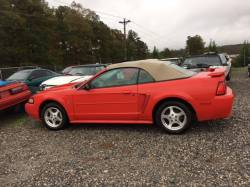 NEW CLEAN PARTS CAR! 2003 Ford Mustang Convertible Red - Image 1