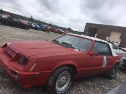 1979-1986 - Parts Cars - 1985 Ford Mustang Convertible