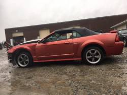 2001 Ford Mustang Red Convertible