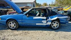 Parts Cars - 1988 Ford Mustang LX - blue convertible