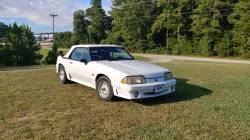 Parts Cars - 1988 Ford Mustang GT - White Convertible
