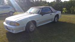1988 Ford Mustang GT - White Convertible - Image 2